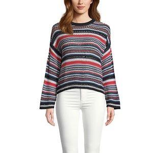 BB Dakota Kaleidoscope Eyes Knit Striped Sweater